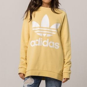 Adidas Trefoil Oversized Yellow Sweatshirt